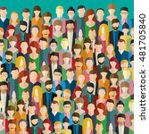 the crowd of abstract people.... | Shutterstock . vector #481705840