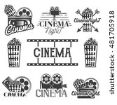 vector set of cinema labels and ... | Shutterstock .eps vector #481705918