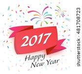 happy new year 2017 celebration ... | Shutterstock .eps vector #481708723