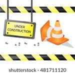 under construction sign...   Shutterstock .eps vector #481711120
