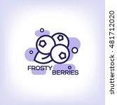 frosty berries flat icon | Shutterstock .eps vector #481712020