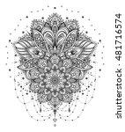 vector ornamental lotus flower  ... | Shutterstock .eps vector #481716574