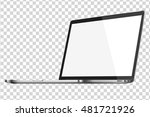 modern glossy laptop isolated... | Shutterstock .eps vector #481721926