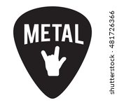 metal music badge label. for... | Shutterstock .eps vector #481726366