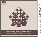 chess club sport emblems or... | Shutterstock .eps vector #481726510