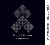 abstract christmas card.... | Shutterstock .eps vector #481727866