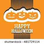 happy halloween background... | Shutterstock .eps vector #481729114