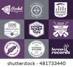 set of music production logo.... | Shutterstock . vector #481733440