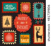 holiday christmas marks. icons  ... | Shutterstock .eps vector #481739806