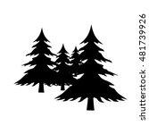 fir trees black icon ... | Shutterstock .eps vector #481739926
