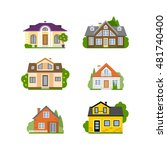 isolated house set. concept of... | Shutterstock .eps vector #481740400