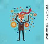 fox businessman concept design...   Shutterstock .eps vector #481740556