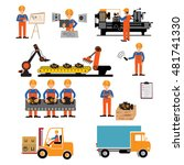 factory production process of... | Shutterstock .eps vector #481741330
