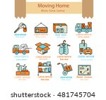 warehouse logistic thin line... | Shutterstock .eps vector #481745704