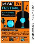 music festival   flat style... | Shutterstock .eps vector #481746454