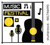 music festival   flat style... | Shutterstock .eps vector #481746490