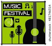 music festival   flat style... | Shutterstock .eps vector #481746514