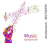 colorful music background....   Shutterstock .eps vector #481746994