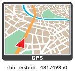 gps navigation display   Shutterstock .eps vector #481749850