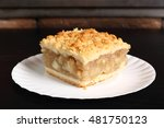 Apple Pie On Disposable Paper...