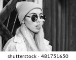 sexy hipster woman in... | Shutterstock . vector #481751650