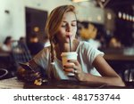 close up of women's hands... | Shutterstock . vector #481753744