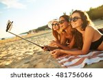 summer holidays and vacation   ... | Shutterstock . vector #481756066