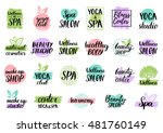 vector health and beauty care... | Shutterstock .eps vector #481760149