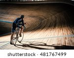 man on a cycle indoors | Shutterstock . vector #481767499
