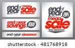 mega sale posters collection ... | Shutterstock .eps vector #481768918