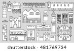 black and white line drawing ... | Shutterstock .eps vector #481769734
