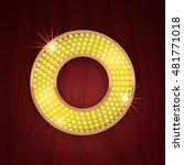 gold light lamp bulb letter o....   Shutterstock .eps vector #481771018