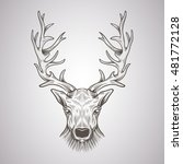 deer head in a graphic style | Shutterstock .eps vector #481772128