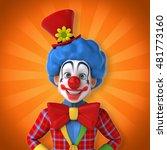 fun clown   3d illustration | Shutterstock . vector #481773160
