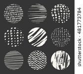 set of nine vector hand drawn... | Shutterstock .eps vector #481773784