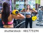 fitness woman doing exercise... | Shutterstock . vector #481775194