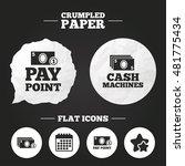 crumpled paper speech bubble.... | Shutterstock .eps vector #481775434