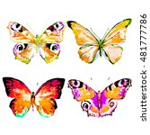 butterfly watercolor  isolated... | Shutterstock . vector #481777786