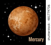 mercury is the smallest and... | Shutterstock .eps vector #481779736
