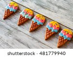 Biscuits Shaped As Ice Cream....