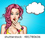 surprised young sexy woman with ... | Shutterstock . vector #481780636