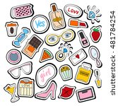 set of stickers  patches hand... | Shutterstock .eps vector #481784254