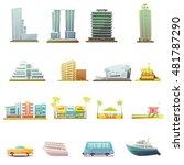 miami beach buildings city... | Shutterstock .eps vector #481787290
