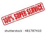 100 percent super service red... | Shutterstock .eps vector #481787410
