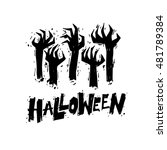 happy halloween poster  banner  ... | Shutterstock .eps vector #481789384