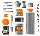 appliances flat icons set in... | Shutterstock .eps vector #481791964