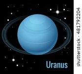 uranus planet illustration. is... | Shutterstock .eps vector #481792204