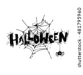 happy halloween poster  banner  ... | Shutterstock .eps vector #481795960