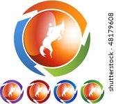 horse jockey stick figure... | Shutterstock . vector #48179608