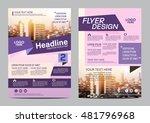 modern flat brochure layout... | Shutterstock .eps vector #481796968